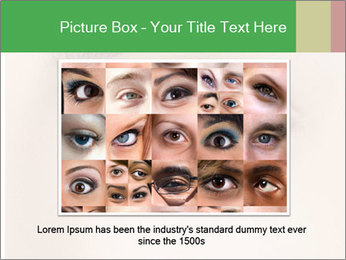 Female Eye PowerPoint Template - Slide 15