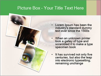 Female Eye PowerPoint Template - Slide 17
