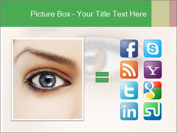 Female Eye PowerPoint Template - Slide 21