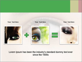 Female Eye PowerPoint Template - Slide 22