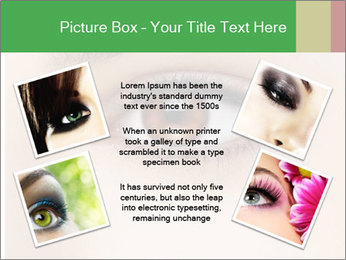 Female Eye PowerPoint Template - Slide 24