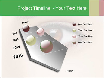 Female Eye PowerPoint Template - Slide 26