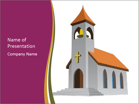 Church Vector PowerPoint Templates
