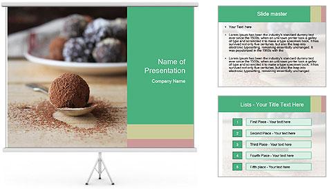 Chocolate Trufflels PowerPoint Template