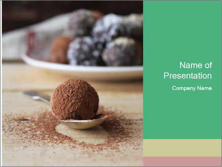 Chocolate Trufflels PowerPoint Templates
