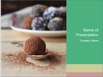 Chocolate Trufflels PowerPoint Templates - Slide 1