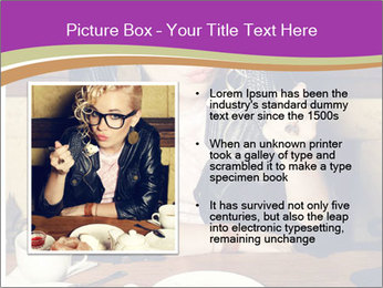 Woman Eats Dessert PowerPoint Template - Slide 13