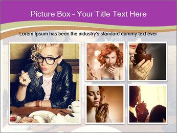 Woman Eats Dessert PowerPoint Template - Slide 19