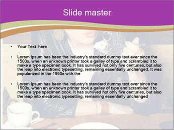 Woman Eats Dessert PowerPoint Template - Slide 2
