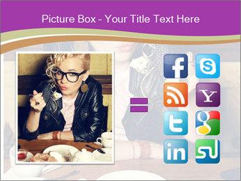 Woman Eats Dessert PowerPoint Template - Slide 21