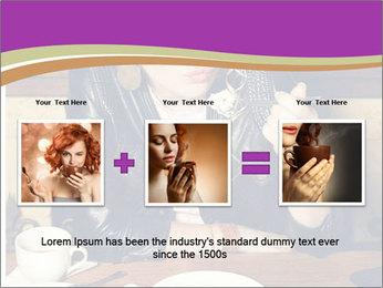 Woman Eats Dessert PowerPoint Template - Slide 22