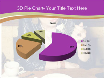 Woman Eats Dessert PowerPoint Template - Slide 35