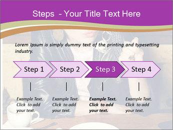 Woman Eats Dessert PowerPoint Template - Slide 4