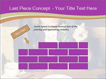 Woman Eats Dessert PowerPoint Template - Slide 46