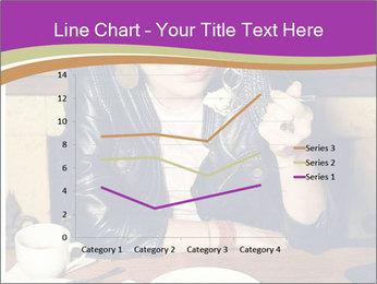 Woman Eats Dessert PowerPoint Template - Slide 54