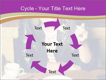 Woman Eats Dessert PowerPoint Template - Slide 62