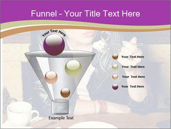 Woman Eats Dessert PowerPoint Template - Slide 63