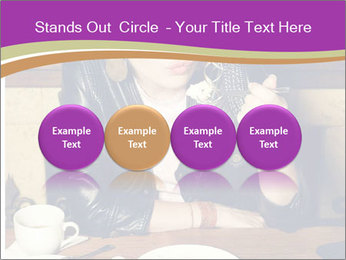 Woman Eats Dessert PowerPoint Template - Slide 76
