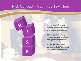 Woman Eats Dessert PowerPoint Template - Slide 81