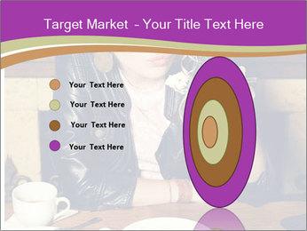 Woman Eats Dessert PowerPoint Template - Slide 84