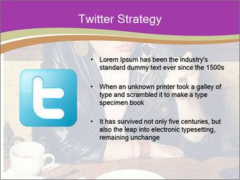Woman Eats Dessert PowerPoint Template - Slide 9