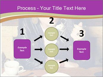 Woman Eats Dessert PowerPoint Template - Slide 92