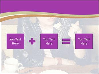 Woman Eats Dessert PowerPoint Template - Slide 95
