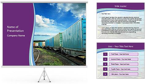Loaded Locomotive PowerPoint Template