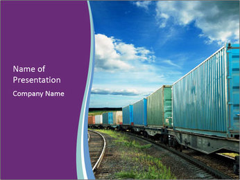 Loaded Locomotive PowerPoint Template