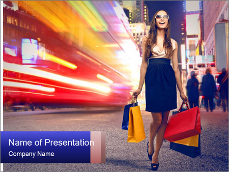 Fashion Shopping PowerPoint Templates
