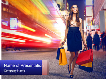 Fashion Shopping PowerPoint Templates - Slide 1