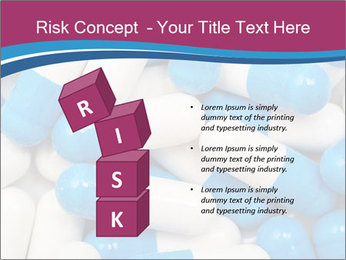 White And Blue Pills PowerPoint Template - Slide 81