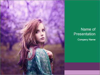 Fairy Vintage Photomodel PowerPoint Template - Slide 1