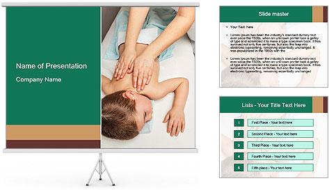 Babby Massage PowerPoint Template