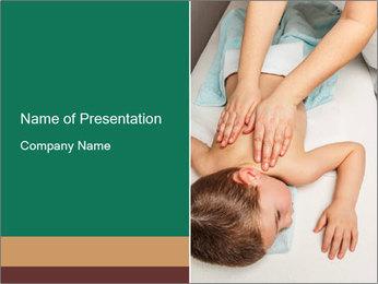 Babby Massage PowerPoint Template - Slide 1