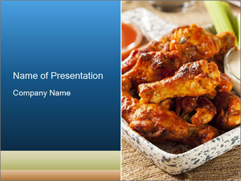 Roasted Wings PowerPoint Template - Slide 1