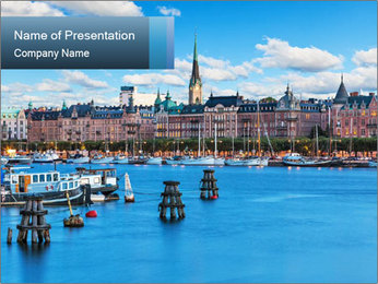 Scandinavian City PowerPoint Templates - Slide 1