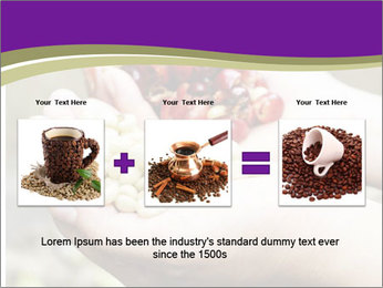Coffee Beans In Palms PowerPoint Template - Slide 22