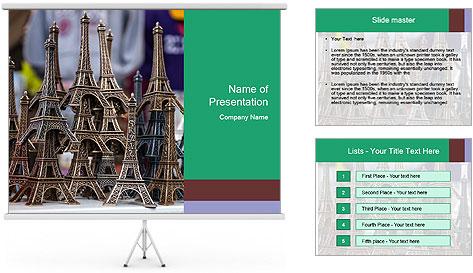 Eiffel Tour Souvenir PowerPoint Template