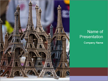 Eiffel Tour Souvenir PowerPoint Template - Slide 1