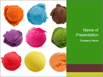 Food Coloring PowerPoint Templates - Slide 1