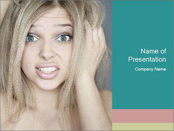 Shocked Woman PowerPoint Template - Slide 1