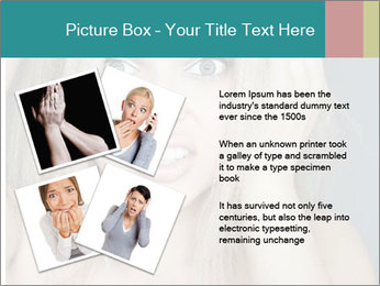 Shocked Woman PowerPoint Template - Slide 23
