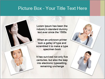 Shocked Woman PowerPoint Template - Slide 24