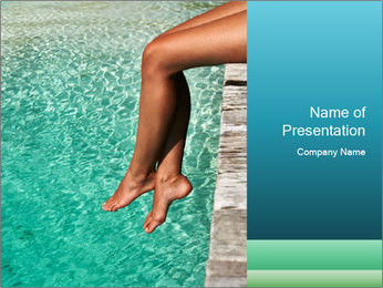 Sexy Female Legs PowerPoint Template - Slide 1
