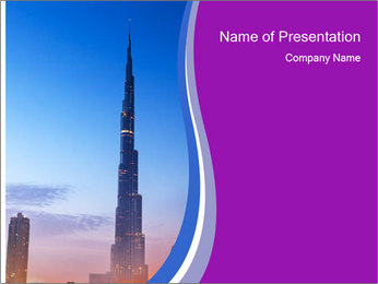 Super High Building PowerPoint Template - Slide 1