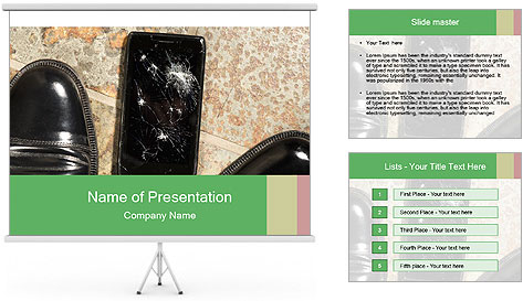 Black Leather Shoes PowerPoint Template