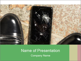 Black Leather Shoes PowerPoint Template - Slide 1
