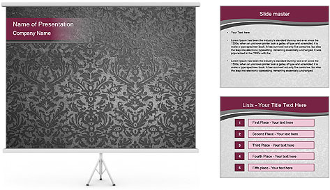 Grey wallpapers PowerPoint Template