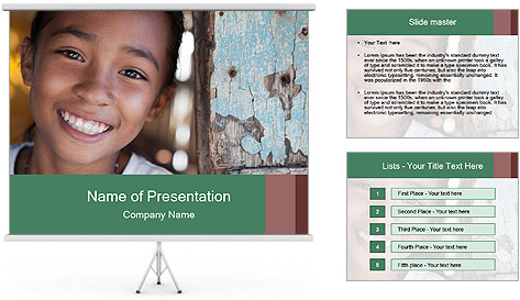 Girl From Philippines PowerPoint Template